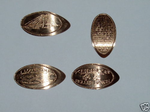 Elongated Penny Stretched smashed set of 4 Burlington  from Kenny