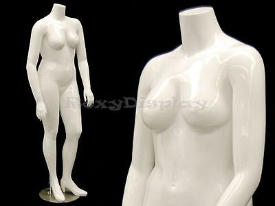 Female Mature Plus Size Headless Mannequin With High Heel Feet Nancybw2s-md