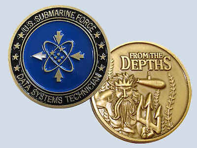 Submarine Rate Ds Data Systems Technician Insignia Commemorative Coin Usn