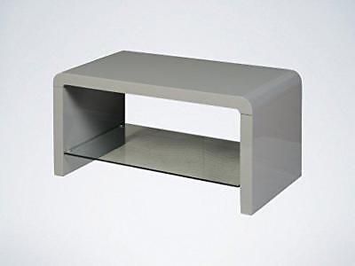 Couchtische Atlanta (Atlanta Grey Coffee Table with Glass Shelf - Modern Coffee Table Grey LivingRoom)