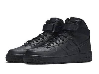 315121 032  Mens Nike Air Force 1 High 07 Triple Black  New