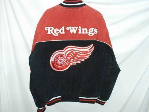 Red wings leather jacket