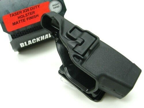 Blackhawk 44H015BK-R Black Serpa Level 2 Right Hand Holster Fits Taser X-26