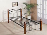 BRAND NEW, STILL BOXED 3ft single metal and wood bed frame
