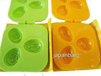 Japanese Plastic Bear Bunny Dog Shapes Quail Egg Mold for Bento Box S-2961 AU