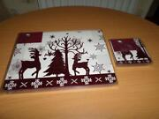 Red Placemats and Coasters