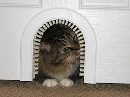 Cat Hole- Original Cathole  Pet Door w/Cleaning / Grooming Brush*FREE 2DAY SHIP
