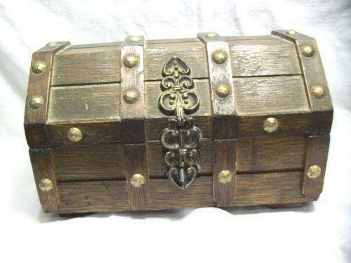 Wood Pirate Chest ~ Wood treasure chest ebay