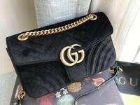 Gucci Evening Bag Marmont Black Velvet