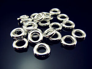 FREE-LOT-200PCS-NWT-silver-plate-Acrylic-round-Spacer-Charms-link-Ring-8mm