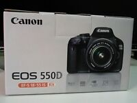 Canon 550D with 18 - 55mm lens Excellent condition