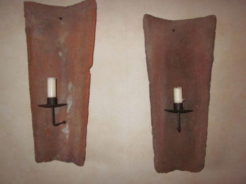 Partylite Kerzenständer Holz ~ Dachziegel Kerzenhalter Kerzenständer & Teelichthalter  eBay