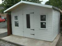 Plastic upvc shed