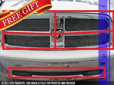 GTG 2009 - 2012 Dodge Ram 1500 5PC Polished Overlay Combo Billet Grille Kit