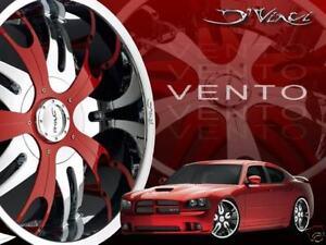 24 inch Dvinci Vento Wheels Rims Fit Charger Magnum Challenger 300 5 X 115 5X120