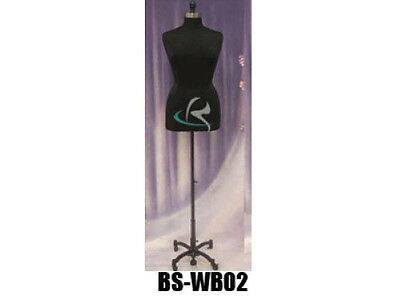 Female Size 14-16 Mannequin Manequin Manikin Dress Form F1416bkbs-wb02t