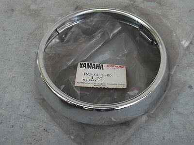 Yamaha RX100 RX125 DX100 YB100 QB50 Headlight Head Lamp Rim 1V1-84115-00 NOS JP for sale  Shipping to United States