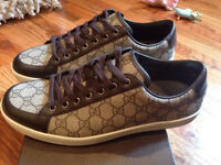 Gucci Biege and Brown Trainers, Size 6