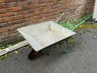 Metal garden wheelbarrow alloy small size still works well