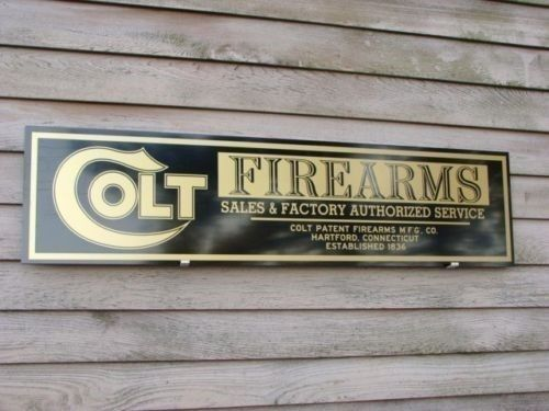 NEW!!  EARLY STYLE COLT FIREARMS DEALER SIGN/AD 1