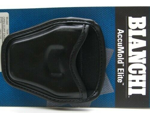Bianchi 22965 Black 7934 Accumold Elite Open Top Handcuff Cuff Case Pouch