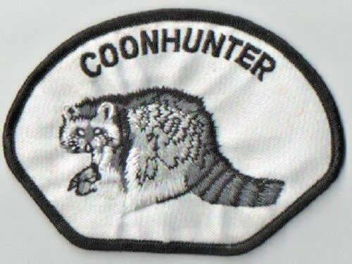 COON HUNTER EMBROIDERED IRON/SEW ON PATCH NEW