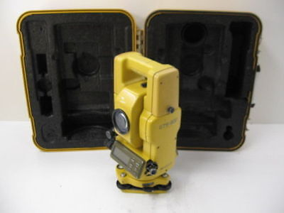 Topcon Gts-302 3 Total Station Complete For Surveying One Month Warranty