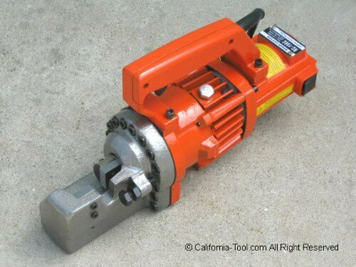 "PORTABLE ELECTRIC HYDRAULIC 3/4"" #6 REBAR CUTTER RC-196C - USED"