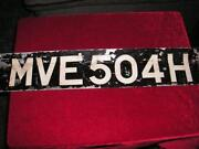 Old Car Number Plates