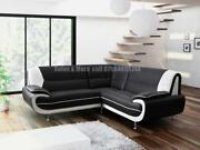 White Leather Corner Sofa