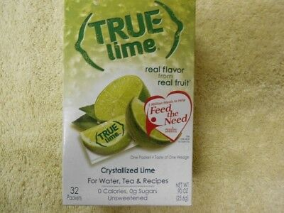 4 True Lime Crystallized Lime For Water & Tea recipes (128 packets) Lime Tea Recipe