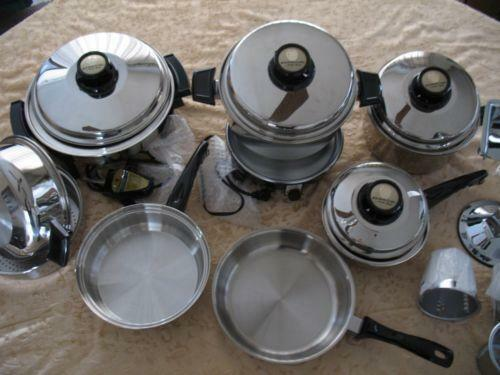 West bend stainless steel cookware ebay for Kitchen craft waterless cookware