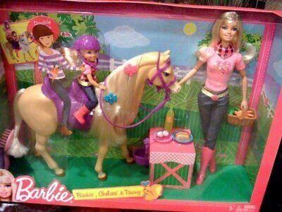 RARE Barbie HORSE Barbie doll & Chelsea Tawny Prestige GIFT SET Mattel #V 8949
