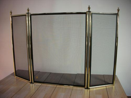 Fireplace Screens Stained Glass Brass And Iron Ebay