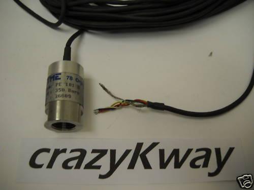 TME  PE 101 R PRESSURE SENSOR CABLE STYLE 350 BARS  NEW CONDITION / NO BOX
