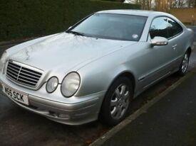 Silver Mercedes Coupe CLK 200 K Auto Petrol