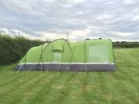 Hi gear Elite 6 man tent with carpet and canopy