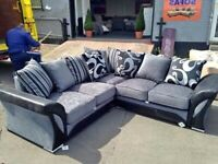 BRANDED NEW CHENILLE FABRIC SHANNON CORNER SOFA OR 3+2 SOFA AVAILABLE NOW