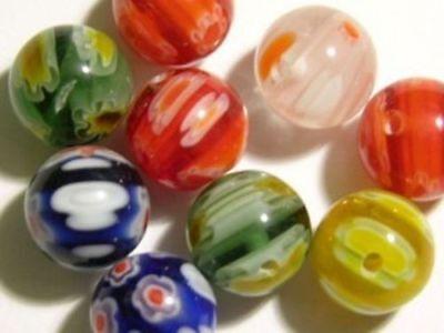 MURANO MILLEFIORI LAMPWORK GLASS beads 14