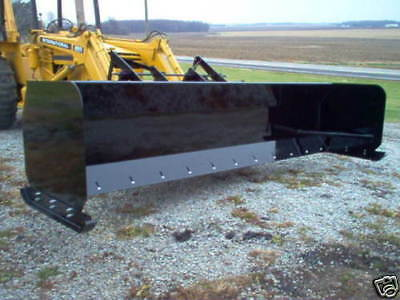 LINVILLE  12' SNOW PUSHER loader snowplow skidsteer plow backhoe steel edge