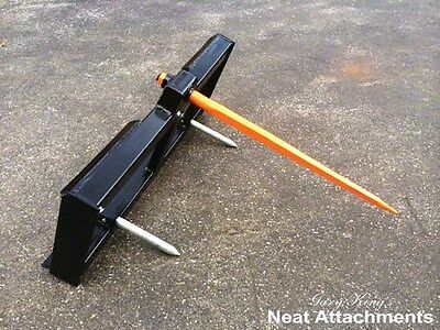 """Skid Steer Bale Spear Attachment WD w/39"""" Spear Quick Attach Bucket Loader 3000#"""