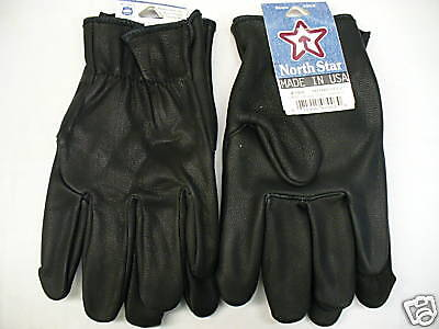 Medium Leather Glove - #700 Medium USA Black Leather Gloves Riding Motorcycle UNION American Made Goat