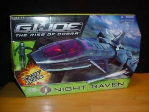 AVION VAISSEAU GI JOE NIGHT RAVEN THE RISE OF COBRA JOUET NEUF