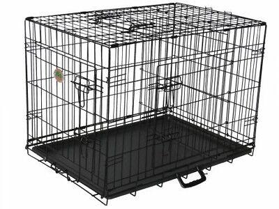 Go Pet Club TD-30 30 in. Three-Door Metal Dog Crate with Divider