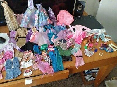 Barbie and Like Clothes 45+ Piece Lot princess dresses-short dresses-accessories