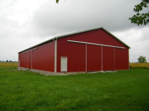 Pole barn construction ebay for 40x60 shop package
