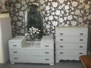 white bedroom suite. Vintage Bedroom Suite  eBay