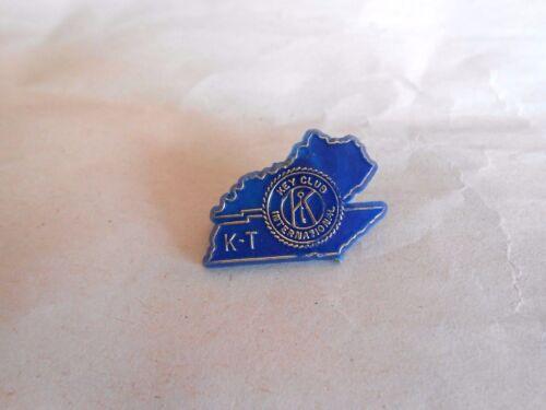 Vintage Kiwanis Key Club K-T Kentucky Tennessee Plastic Lapel Pin