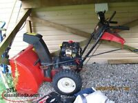 "MTD 10hp /29"" snowblower"