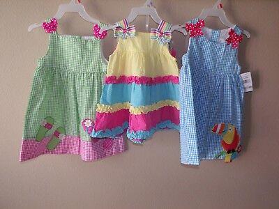NWT GIRLS EMILY ROSE DRESS SUN BLUE GREEN PINK YELLOW SLEEVELESS 12M 18M 2T 4T - Yellow Dress Girls